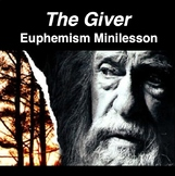 The Giver - Euphemism - Minilesson