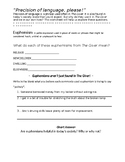 The Giver Euphemisms Worksheet
