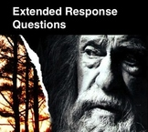 THE GIVER - Extended Response Questions
