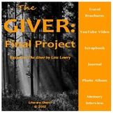 GIVER by Lois Lowry: Final Project, Assessment, Enrichment Activities - Digital