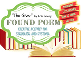 The Giver: Found Poem Activity {CCSS Aligned, Dystopia, Symbolism}
