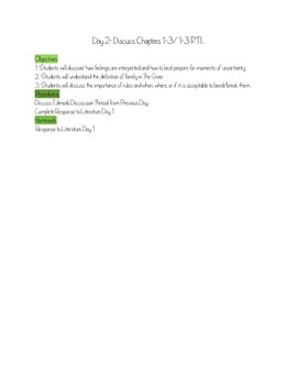 The Giver Full Unit Including Test and Final Essay