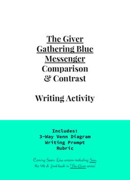 The Giver, Gathering Blue, Messenger Compare & Contrast 3-