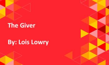 The Giver Google Slides Novel Study