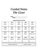 The Giver Guided Notes and Analysis Questions
