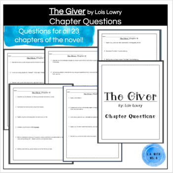 The Giver- Chapter Questions For All Chapters (24 PAGES!)