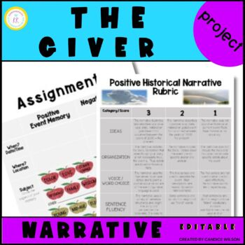 The Giver Historical Memory Transmission Creative Writing Project