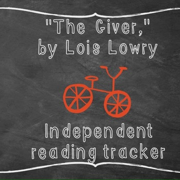 The Giver: Independent reading tracker