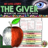 THE GIVER: INTERACTIVE LAYERED FLIP BOOK READING LITERATURE GUIDE