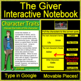 The Giver -  Interactive Notebooks for Google Drive