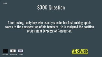 The Giver Jeopardy (Google Slides)