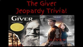 The Giver Jeopardy Trivia