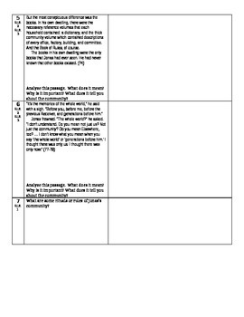 The Giver - L. Lowry - Abbreviated Close Reading & Comp. Questions-Ch. 9-10
