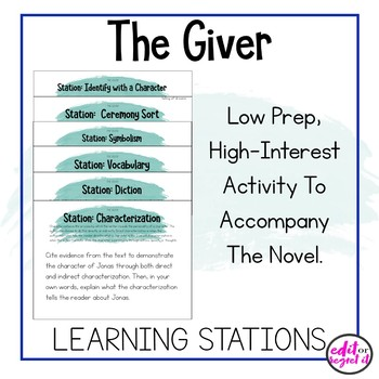 The Giver Learning Stations