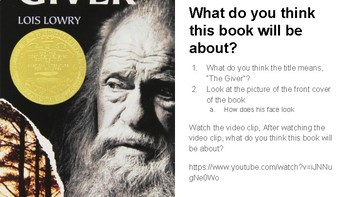 The Giver Lessons PowerPoint