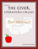 The Giver Literature Circles and Project - Editable