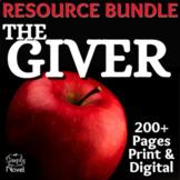 The Giver Unit Plan - Novel Study BUNDLE - Worksheets, Act