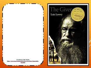 The Giver Literature Study Journal