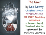 The Giver (Lois Lowry) - Ch. 20-23 - Foreshadowing - ACTIVITIES + ANSWERS