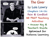 The Giver (Lois Lowry) - Chapters 14-16 - Pain & Conflict - ACTIVITIES + ANSWERS