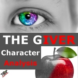The Giver Lois Lowry Character Analysis Activities