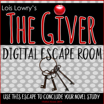 The Giver - Lois Lowry - Novel Review - Digital Escape - Engaging Activity!