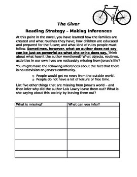 The Giver Making Inferences