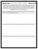 The Giver: Memory Activity