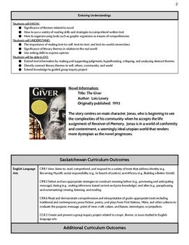 The Giver - Mini Unit Plan