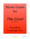 The Giver - Movie Guide; Secondary ELA
