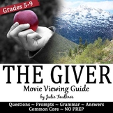 The Giver Movie Viewing Guide, Printable and Digital, Distance Learning