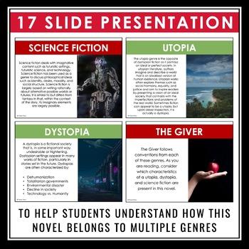 GIVER GENRE PRESENTATION: DYSTOPIA SCIENCE FICTION