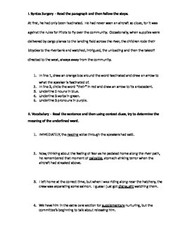 The Giver Novel Packet (Intro to Chapter 10)