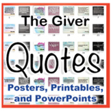 The Giver Novel Quotes Posters and Powerpoints
