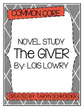 The Giver - Novel Study