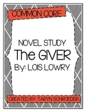 The Giver - Novel Study