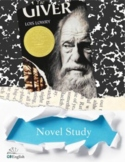 The Giver Novel Study, Cross Genre Resources and Tests Included