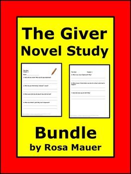 The Giver Novel Study Bundle