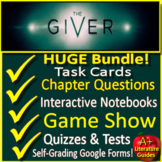 The Giver Novel Study Unit: Print AND Google Paperless with Self-Grading Tests
