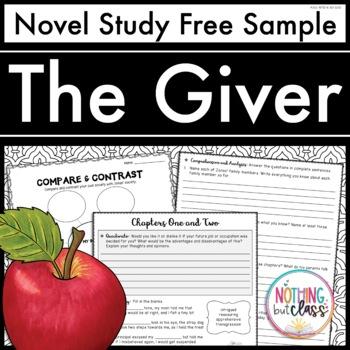 The Giver Novel Study FREE Sample