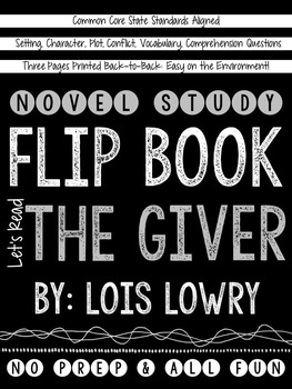 The Giver Novel Study Flip Book