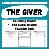 The Giver Novel Study - Vocabulary Guide
