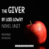 The Giver Novel Unit with distance learning option