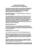 The Giver Opinion Writing Cooperative Learning Project