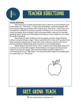 The Giver: Oral Presentation