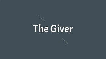Introduction to The Giver PowerPoint