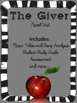 The Giver (Music Video, Study Guide, Test, and Activities)