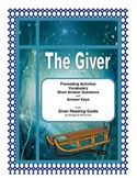 The Giver Prereading,Vocabulary, Short Answer Questions