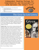 The Giver Quizzes For Google Forms! And Independent Readin