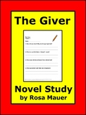 Giver Book Unit